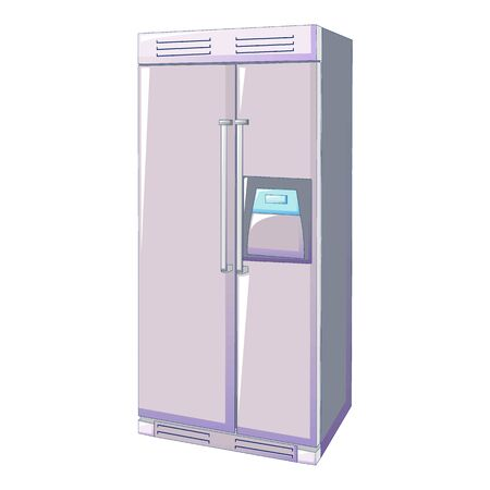 Modern fridge icon. Cartoon of modern fridge vector icon for web design isolated on white background Иллюстрация
