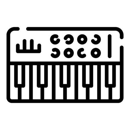 Audio synthesizer icon. Outline audio synthesizer vector icon for web design isolated on white background