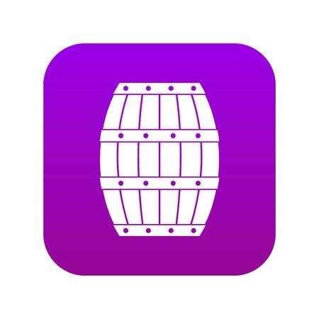 Barrel icon digital purple
