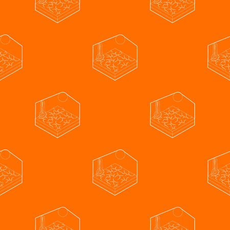 Drought pattern vector orange for any web design best