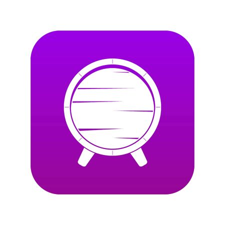 Barrel on legs icon digital purple