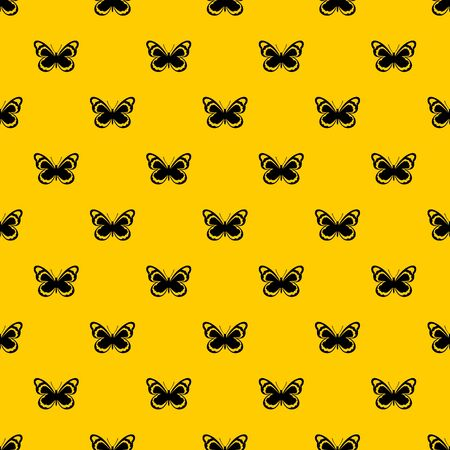 Small butterfly pattern seamless vector repeat geometric yellow for any design