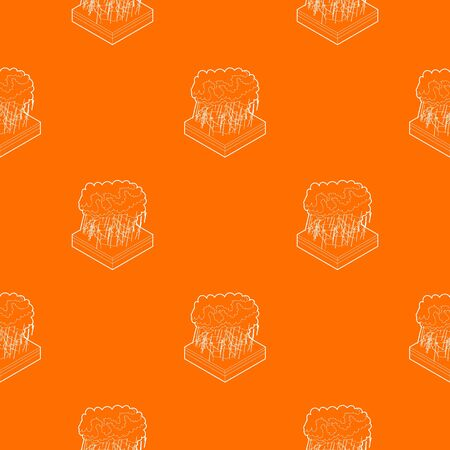 Thunderstorm pattern vector orange for any web design best