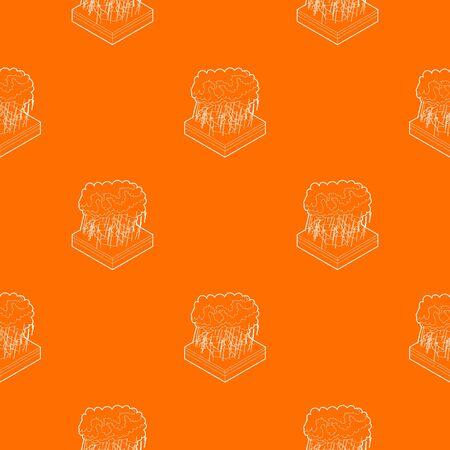 Thunderstorm pattern vector orange for any web design best