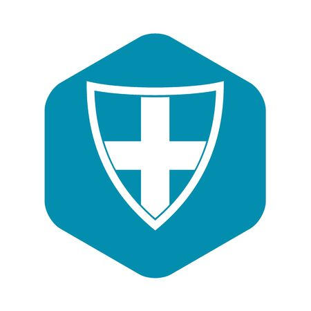 Shield for protection icon. Simple illustration of shield for protection vector icon for web