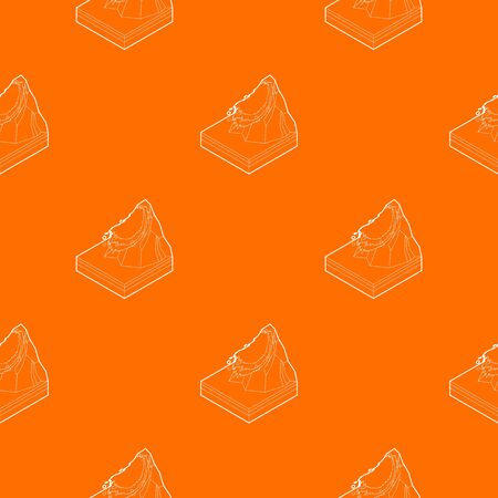 Avalanche pattern vector orange for any web design best