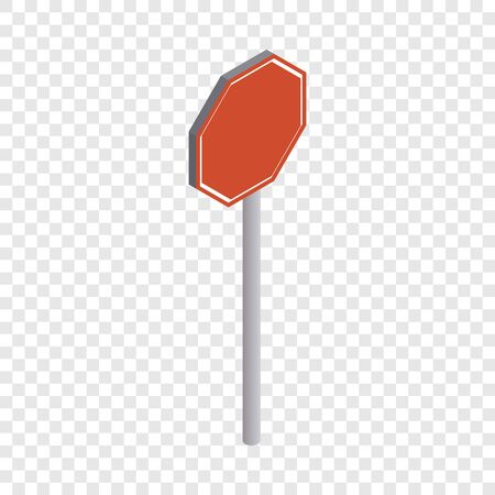 Road sign stop icon. Isometric 3d illustration of road sign stop vector icon for web Ilustração Vetorial