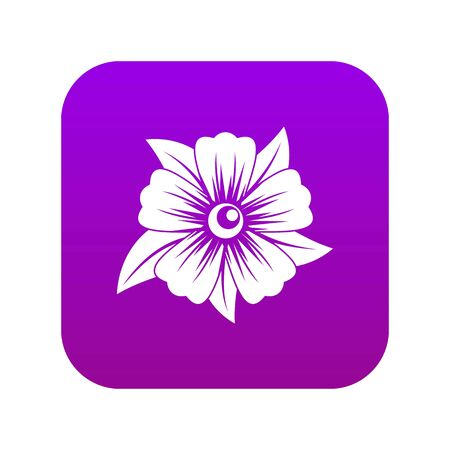 Flower icon digital purple for any design isolated on white vector illustration