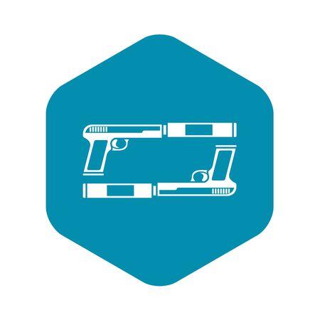 Gun icon, simple style Illustration