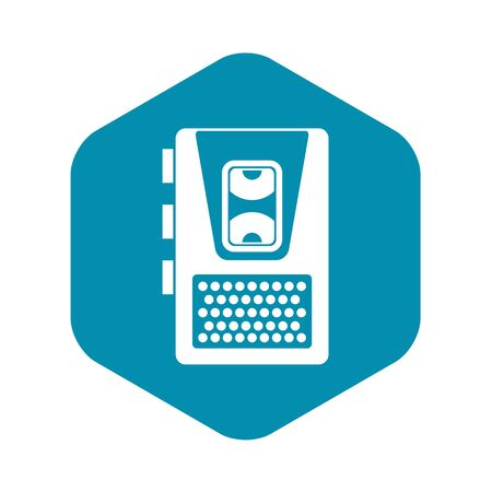 Dictaphone icon, simple style