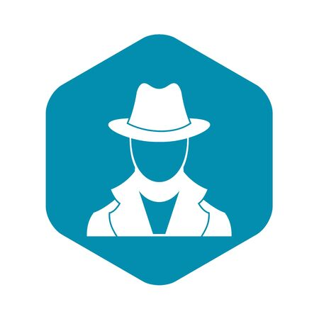 Spy icon, simple style