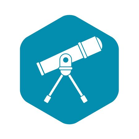 Space telescope icon. Simple illustration of vector icon for web