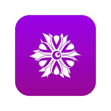 Flower icon digital purple for any design isolated on white vector illustration Ilustração