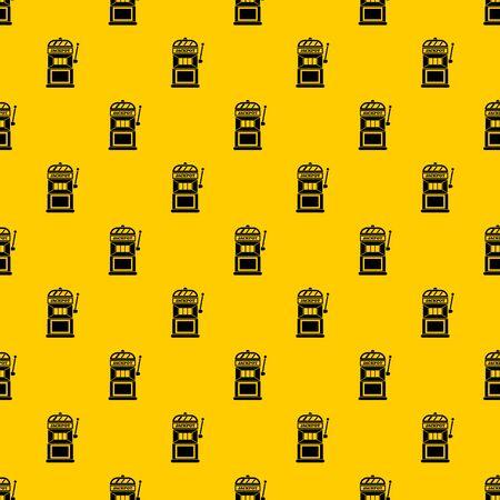Gamble machine pattern seamless vector repeat geometric yellow for any design Иллюстрация