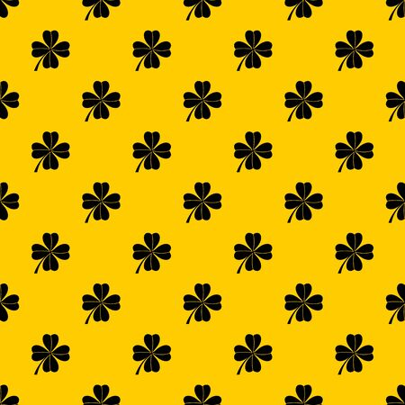 Four leaf clover pattern seamless vector repeat geometric yellow for any design Foto de archivo - 130250925