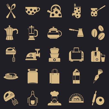 Delicate meat icons set. Simple set of 25 delicate meat icons for web for any design
