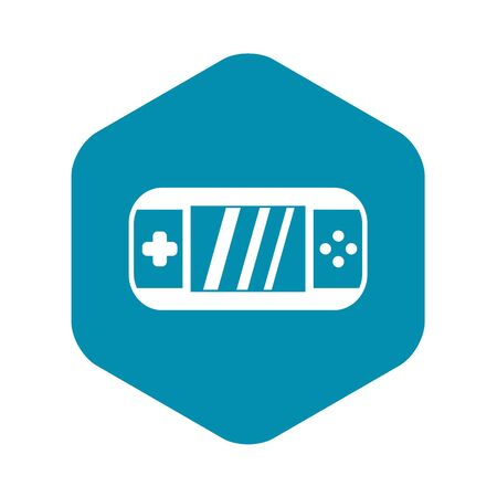 Portable video game console icon, simple style Stock Photo