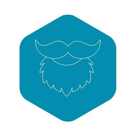 Beard icon , outline style