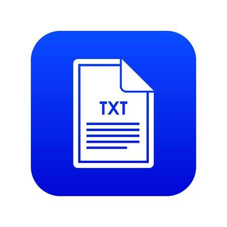 File TXT icon digital blue 版權商用圖片