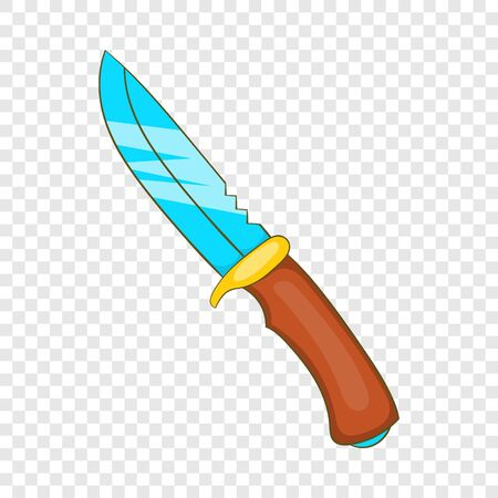 Hunting knife icon, cartoon style