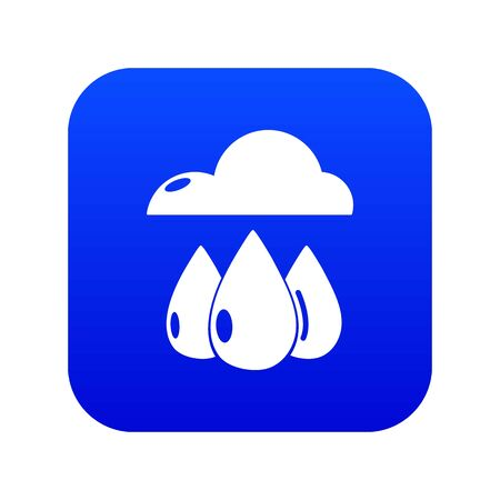 Rain weather icon blue