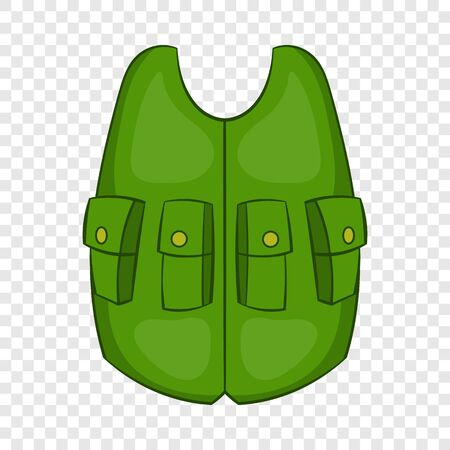 Green hunter vest icon, cartoon style 写真素材