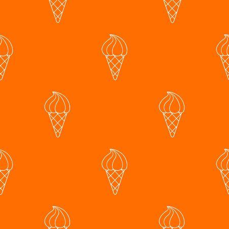 Lemon ice cream pattern orange