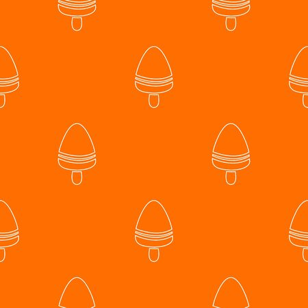 Watermelon ice cream pattern orange Banco de Imagens
