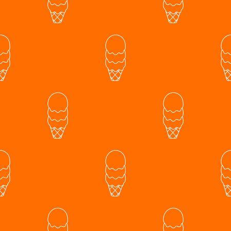 Three balls ice cream pattern orange Banco de Imagens
