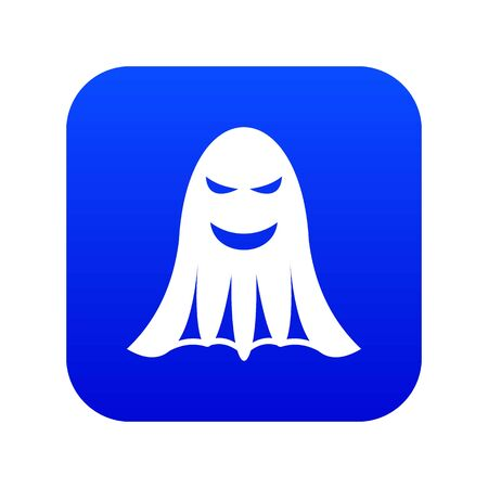 Ghost icon digital blue