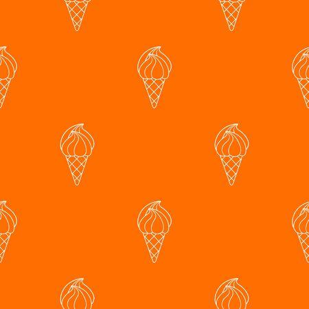 Wafer ice cream pattern orange