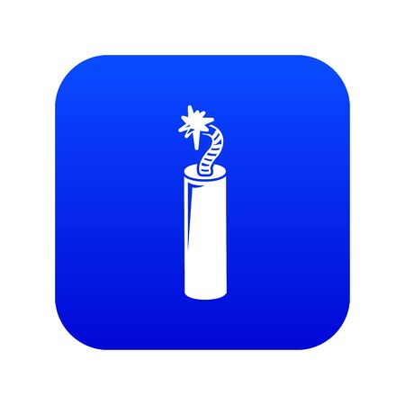 Mine dynamite icon blue