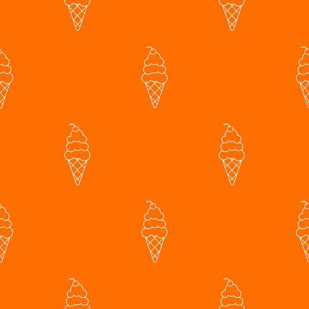 Vanilla ice cream pattern orange