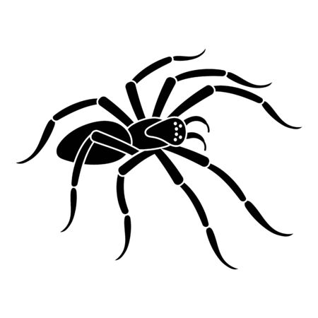Scary spider icon. Simple illustration of scary spider vector icon for web design isolated on white background