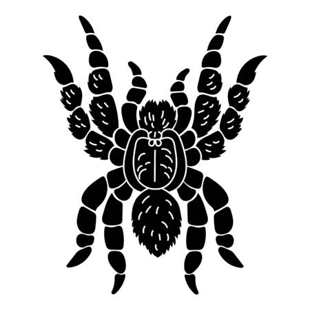 Tarantula icon, simple style 일러스트