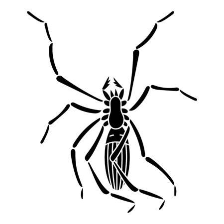 Spider bug icon. Simple illustration of spider bug vector icon for web design isolated on white background