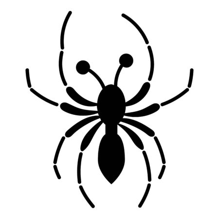Halloween spider icon. Simple illustration of halloween spider vector icon for web design isolated on white background Çizim