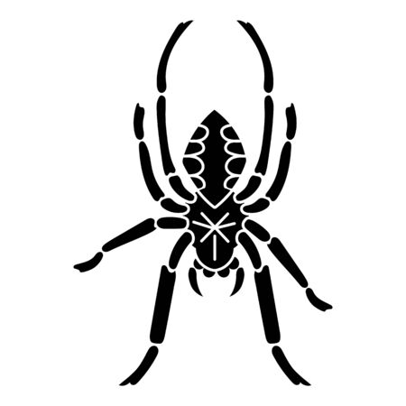 Cross spider icon. Simple illustration of cross spider vector icon for web design isolated on white background Vectores