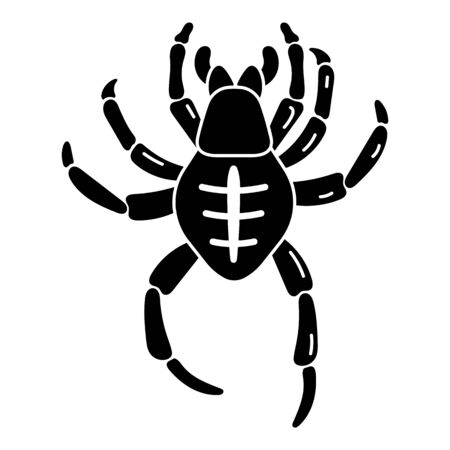 Creepy spider icon. Simple illustration of creepy spider vector icon for web design isolated on white background