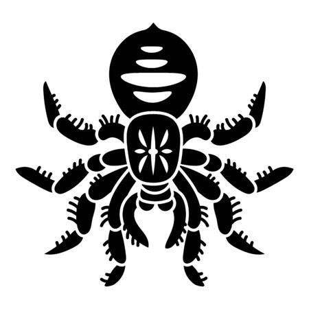 Danger tarantula icon. Simple illustration of danger tarantula vector icon for web design isolated on white background