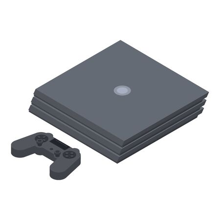 Modern game console icon, isometric style