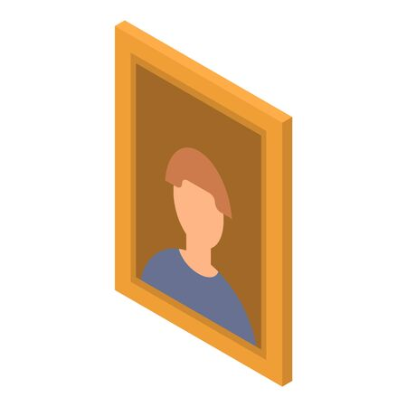 Man picture icon. Isometric of man picture vector icon for web design isolated on white background
