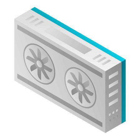 Mining farm conditioner icon. Isometric of mining farm conditioner vector icon for web design isolated on white background