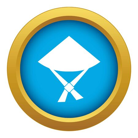 Vietnamese hat icon blue vector isolated on white background for any design Ilustração