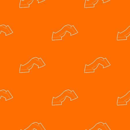 Double headed arrow pattern vector orange for any web design best Ilustrace