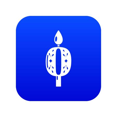 Candle numbering icon. Simple illustration of candle numbering vector icon for web