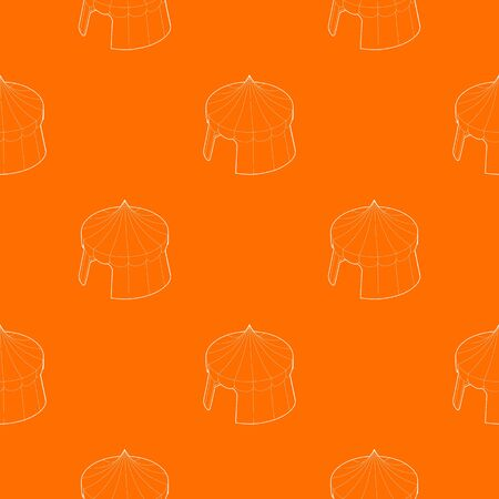 Circus tent pattern vector orange for any web design best