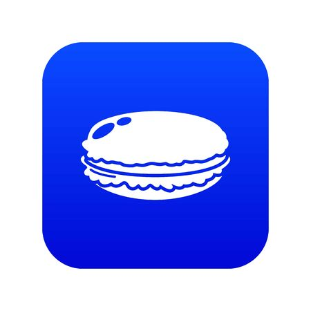 Macaroons icon, simple black style