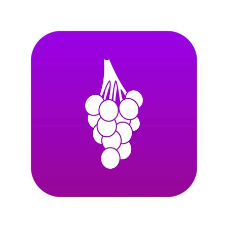 Grapes icon digital purple
