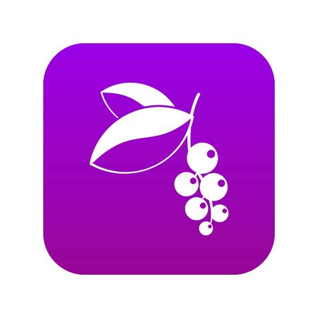 Currant berries icon digital purple for any design isolated on white vector illustration